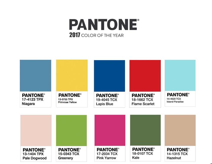 2017 Pantone Colors